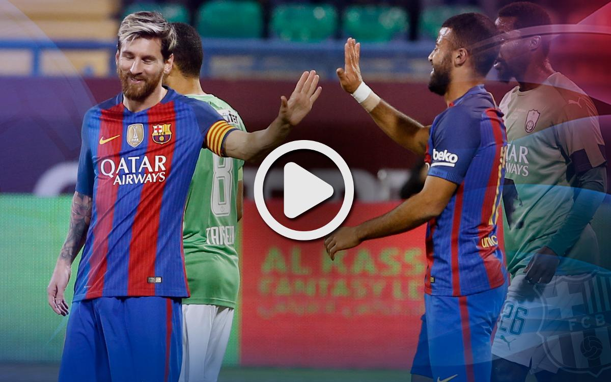 Video highlights: Al-Ahli Saudi FC v FC Barcelona
