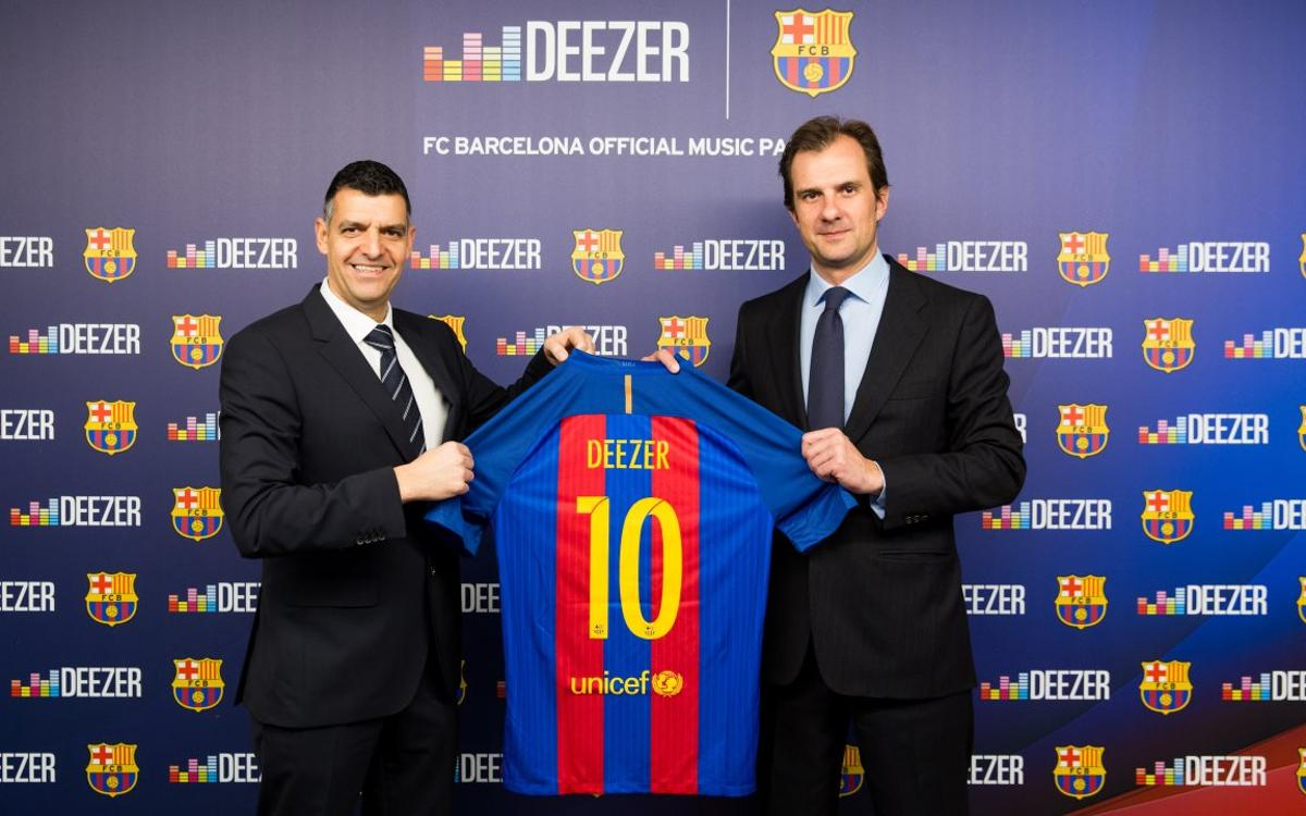 Deezer, revealed as FC Barcelona's official partner