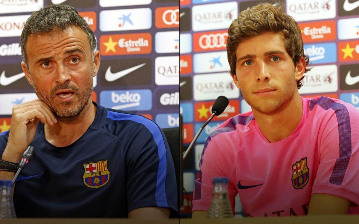 LIVE press conference with Luis Enrique and Sergi Roberto