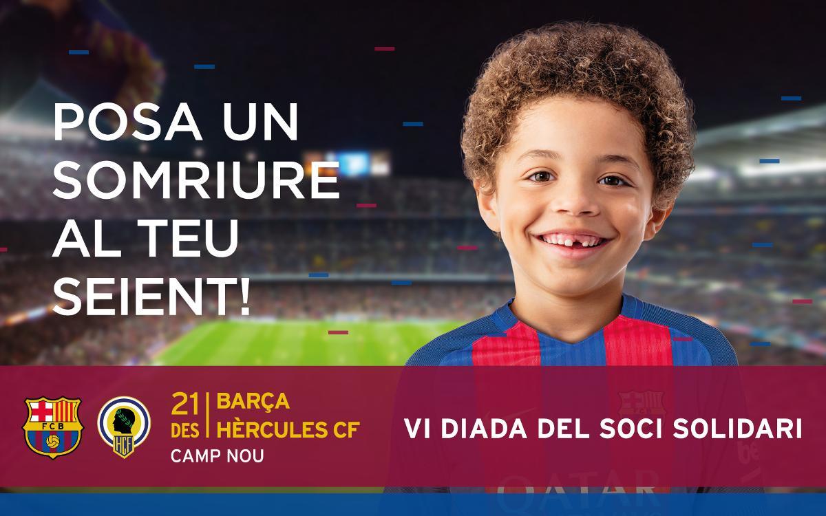El Club allibera tot el Camp Nou per al partit solidari contra l'Hèrcules a la Copa