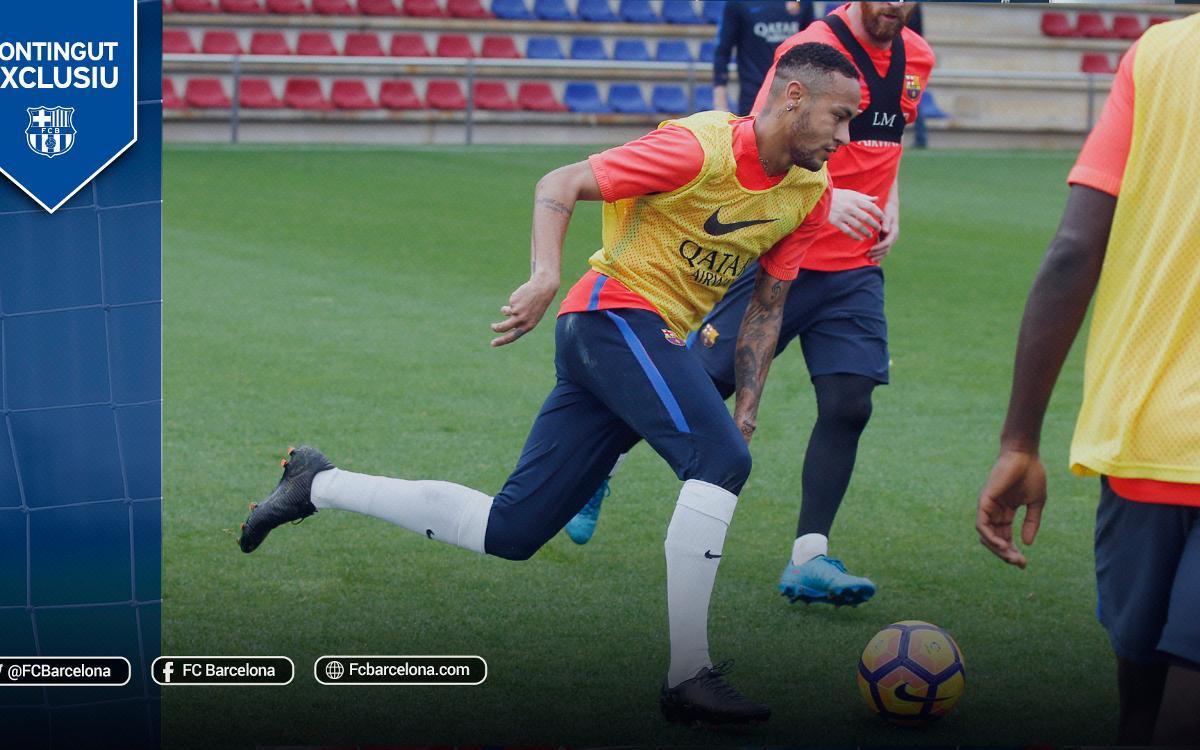 L'espectacular partit d'entrenament entre els jugadors del FC Barcelona