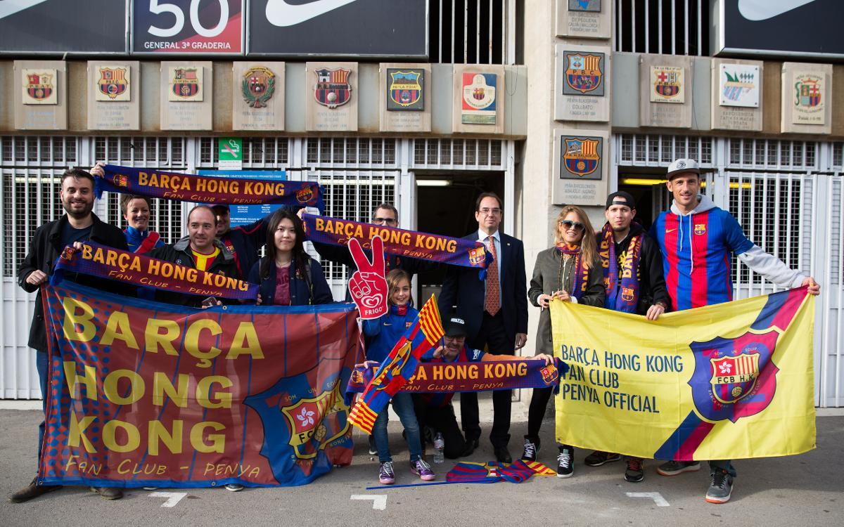 Penyes actions at Camp Nou before Barça v Málaga