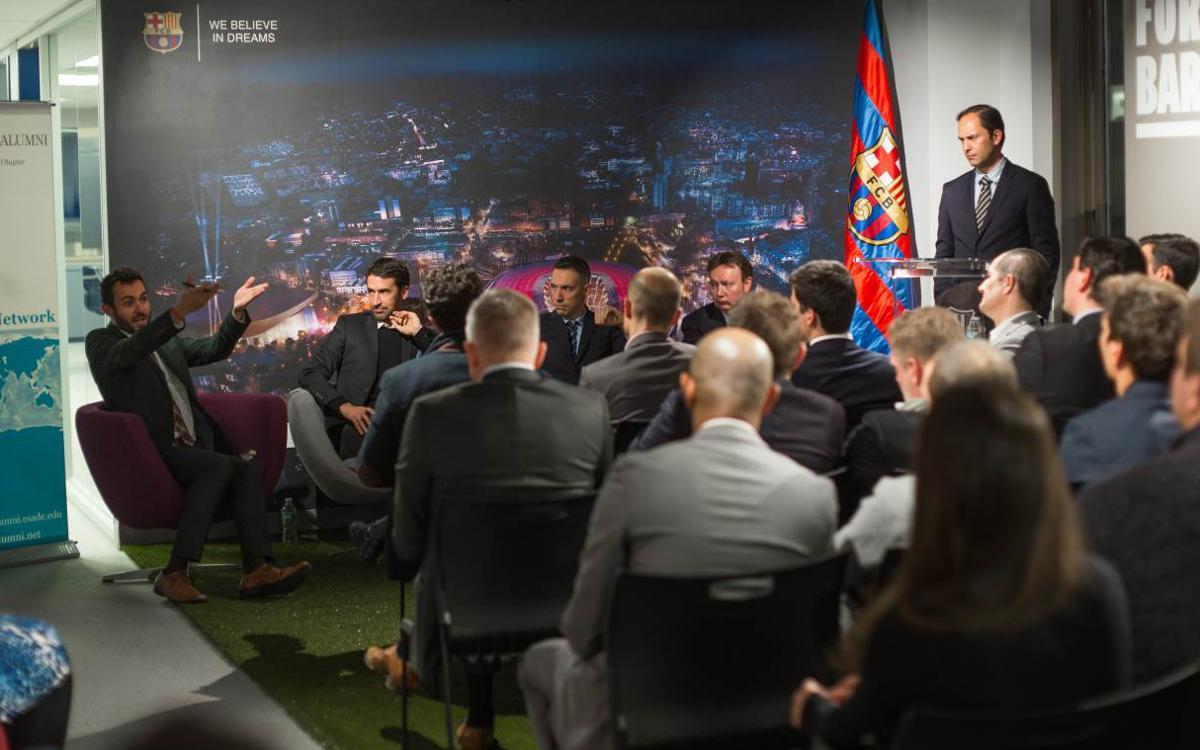 L'oficina de Nova York, seu d'una xerrada amb exalumnes d'ESADE sobre els models de negoci del Club, LaLiga, la MLS i la NBA
