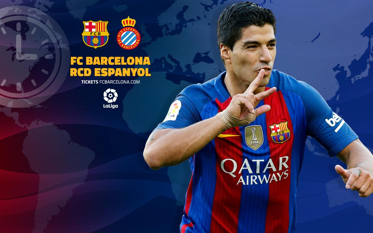 When and where to watch FC Barcelona v Espanyol