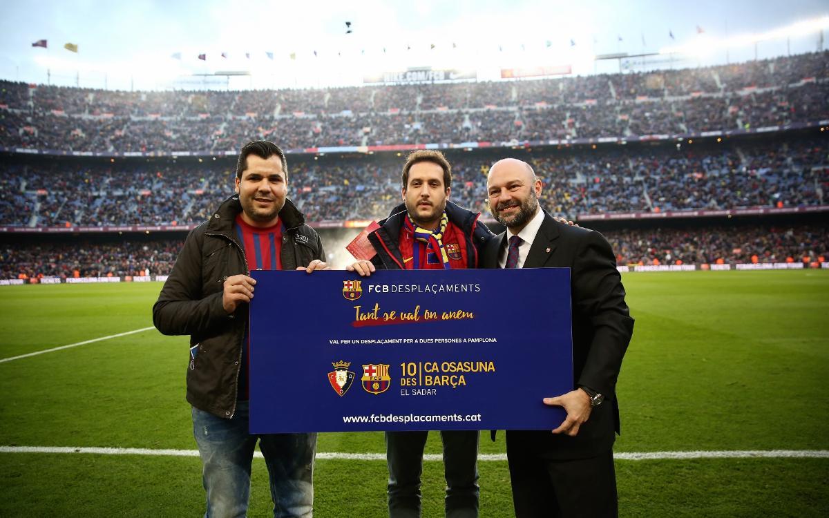 Un soci rep el premi d'un viatge a Pamplona per a dues persones