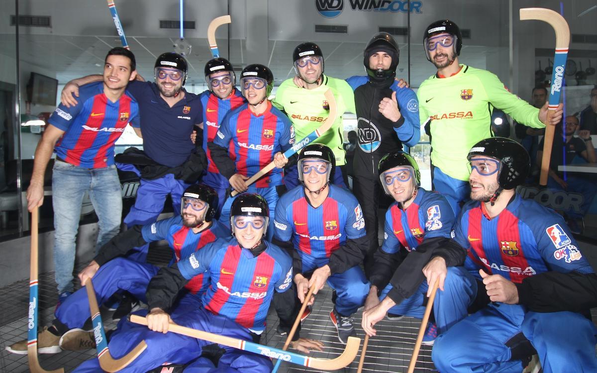 El Barça Lassa de hockey patines aprende a volar
