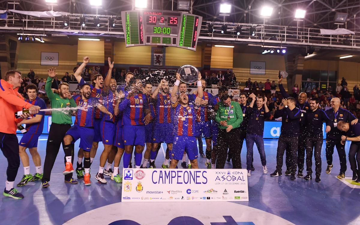 FC Barcelona Lassa – BM Granollers: Campions de la Copa Asobal! (30-25)