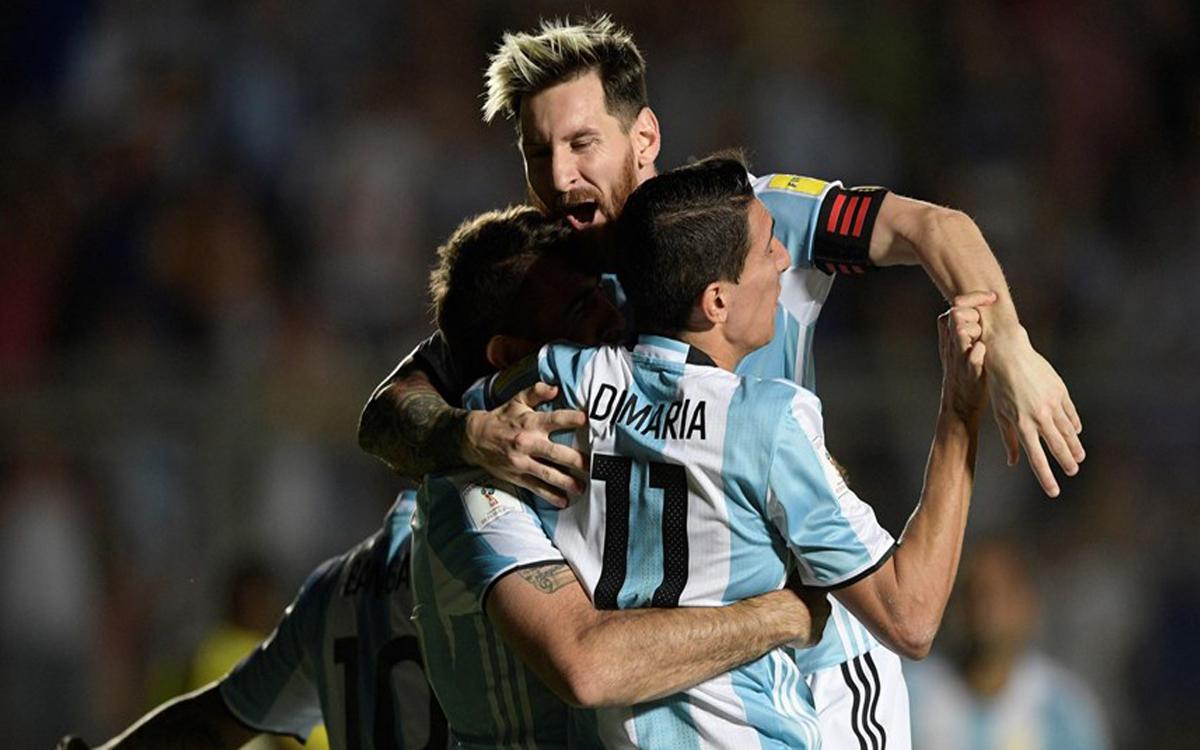メッシ、コロンビア戦での勝利を導く (3-0)