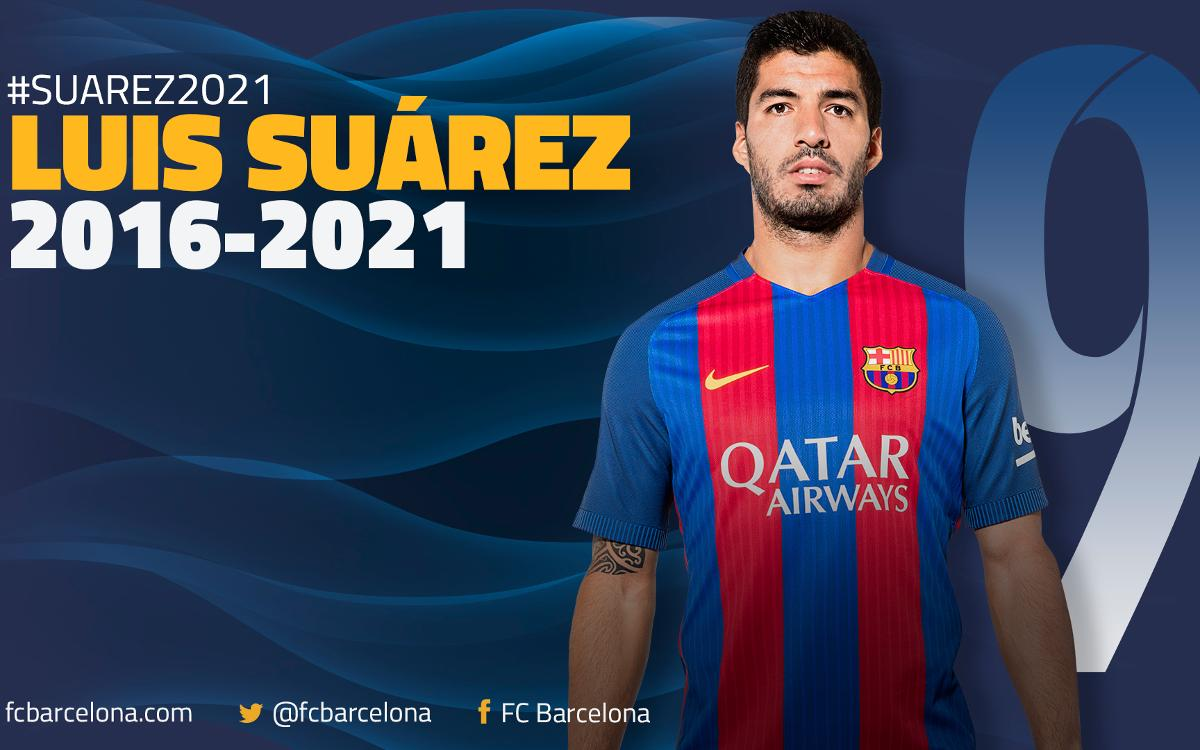 Luis Suárez at FC Barcelona until 2021