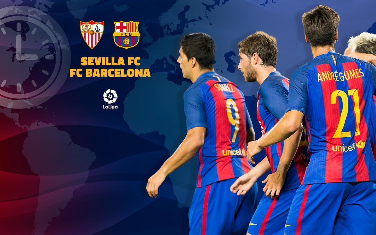 When and where to watch Sevilla v FC Barcelona in La Liga