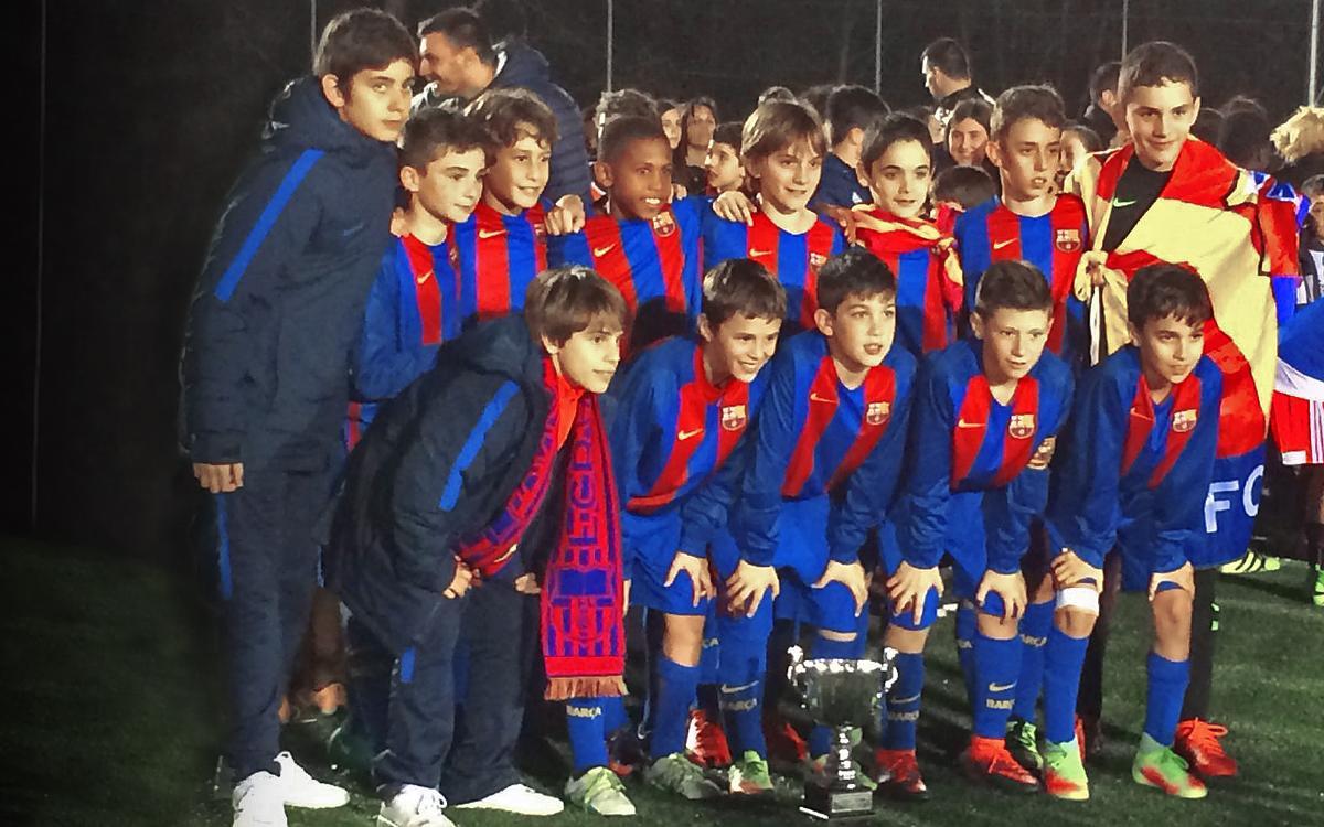 El Alevín B gana la Etxano Cup en Amorebieta