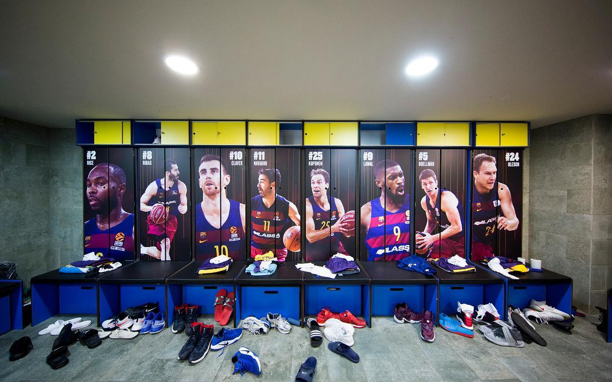 La nueva imagen de las taquillas del vestuario del Barça de baloncesto