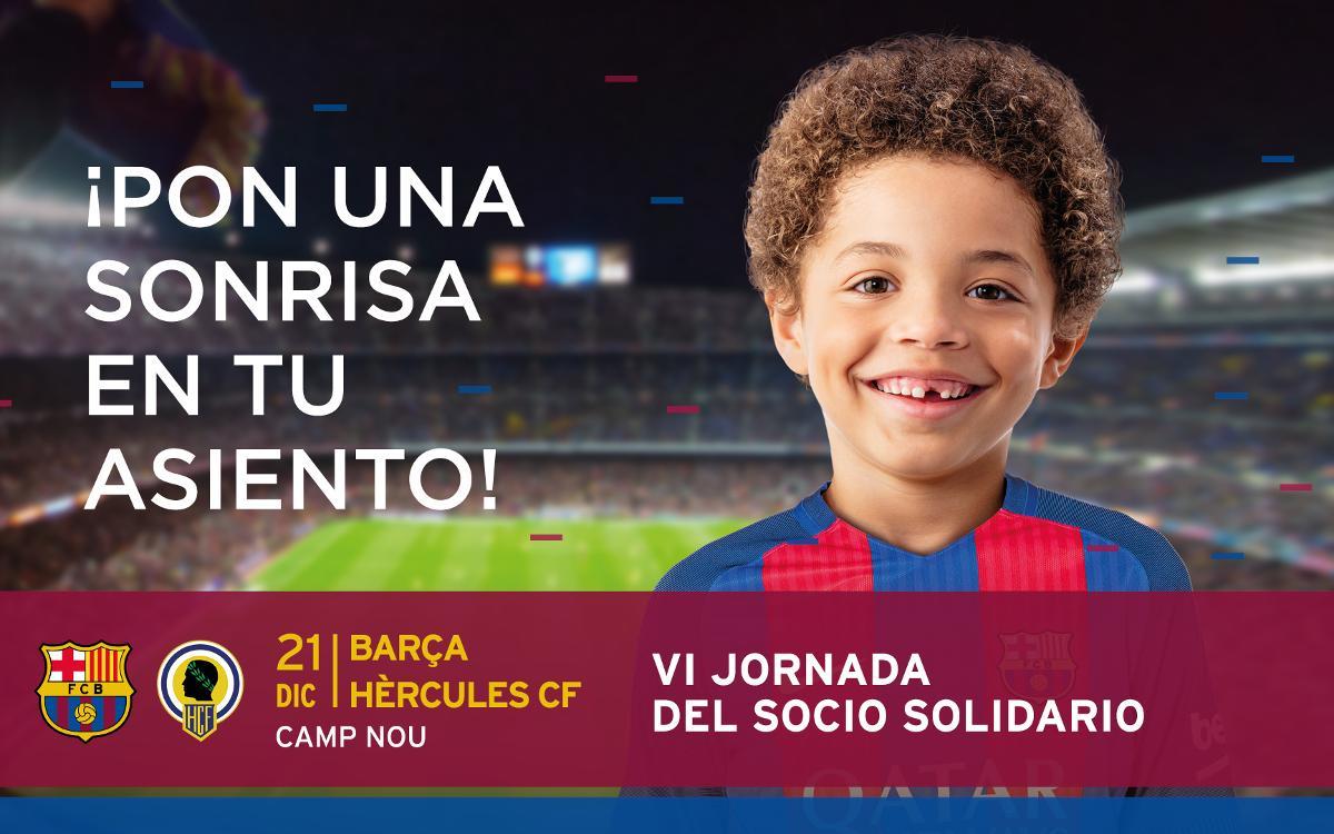 El Club libera todo el Camp Nou para el partido solidario contra el Hércules en la Copa