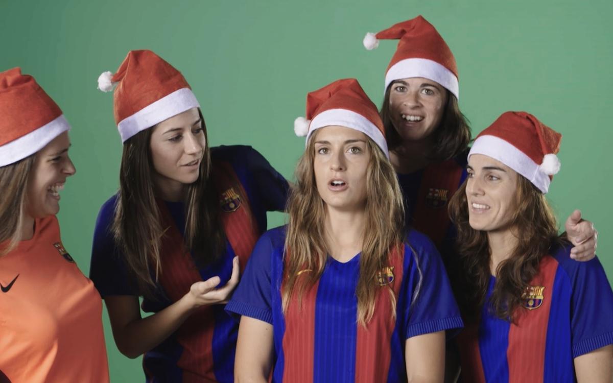 El making of de la felicitación de Navidad del Femenino