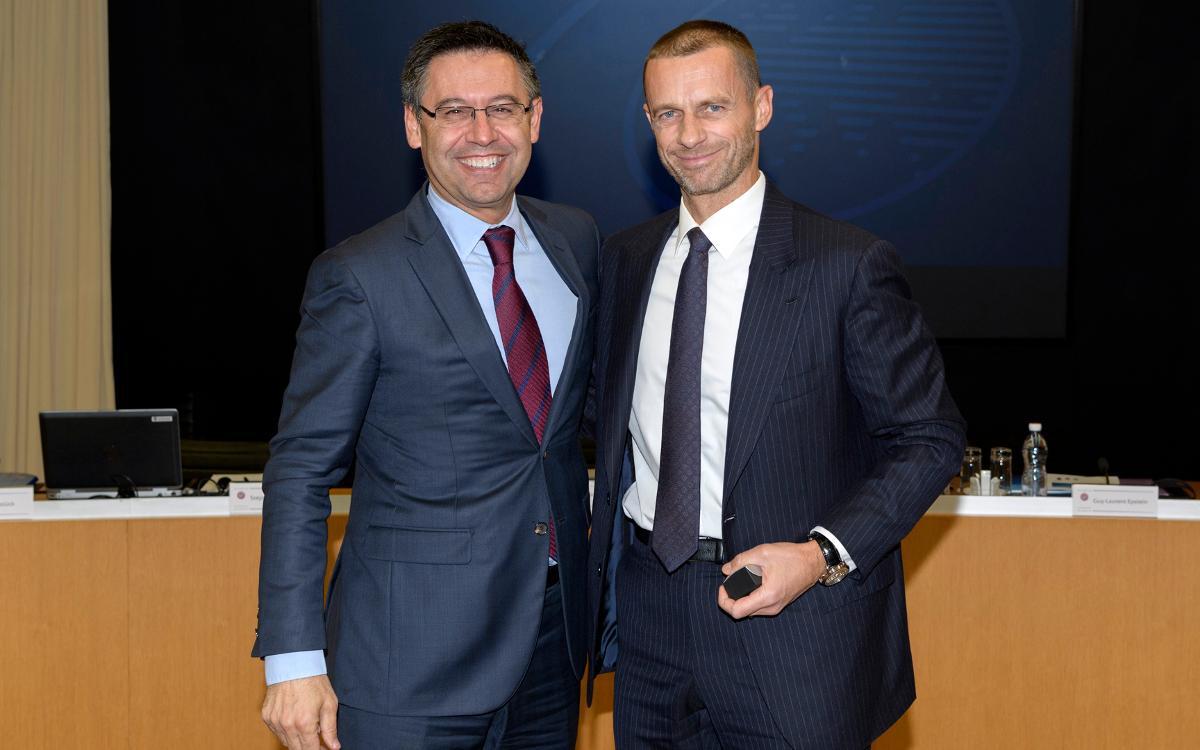 Bartomeu, en el comité de competiciones de clubes de la UEFA