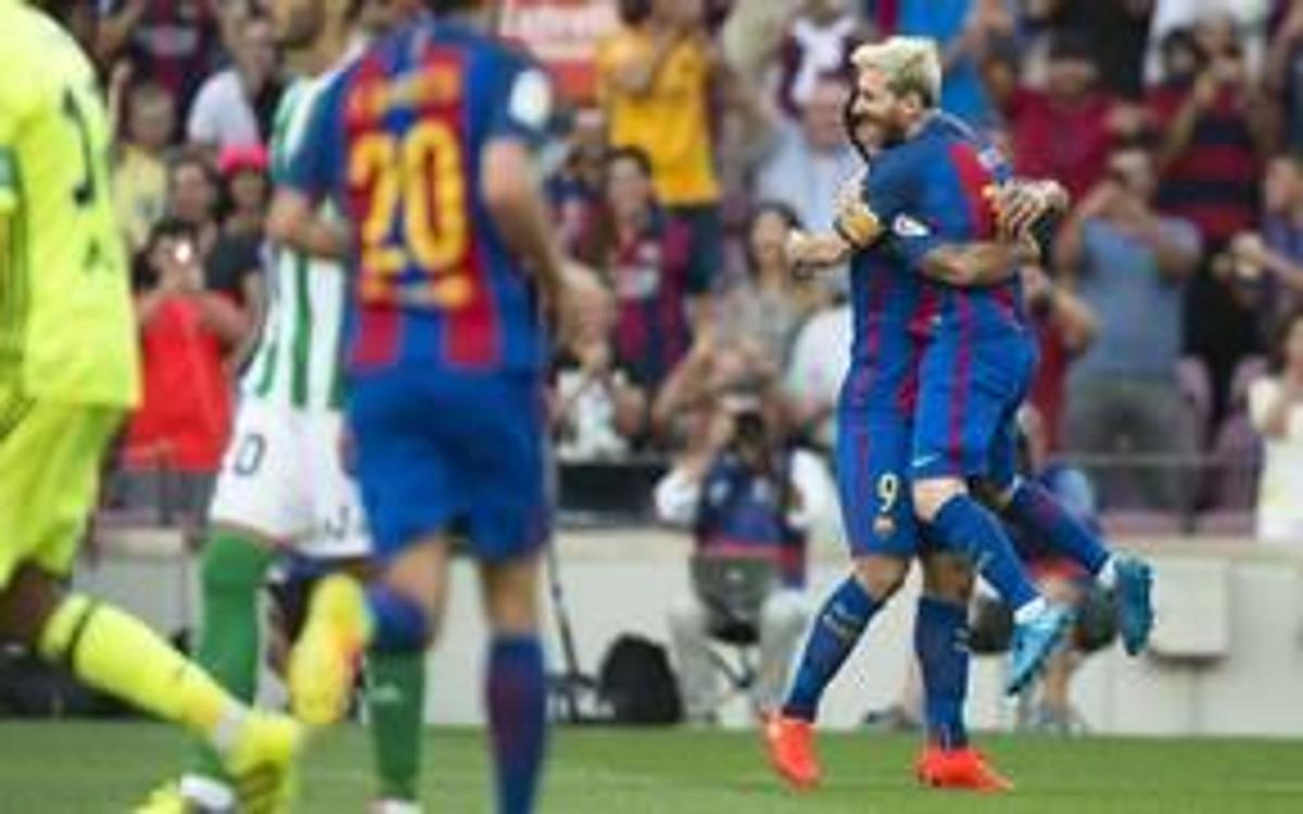 League video highlights: FC Barcelona - Real Betis