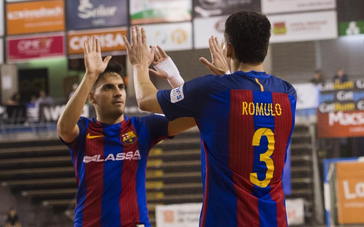 FC Barcelona Lassa – FS Castellar: Debut oficial amb victòria i a la final (11-0)