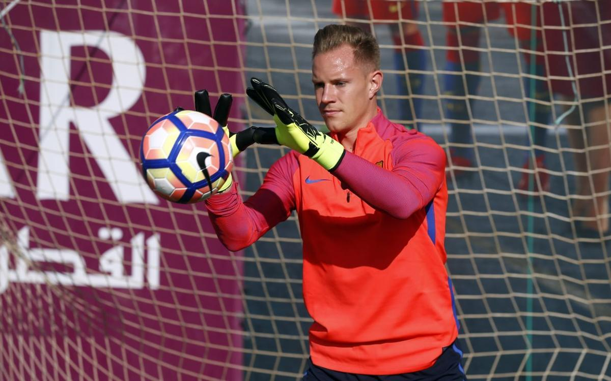 Ter Stegen joins second training of the week
