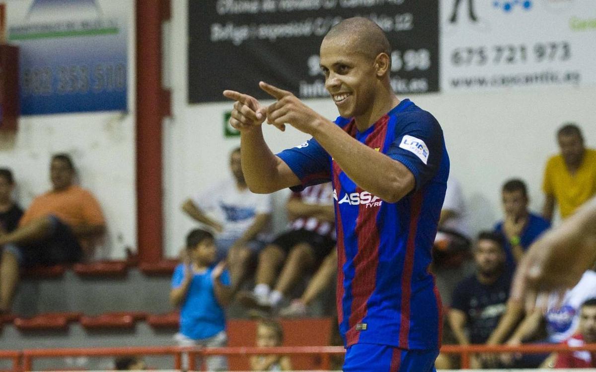 Victòria i golejada del Barça Lassa