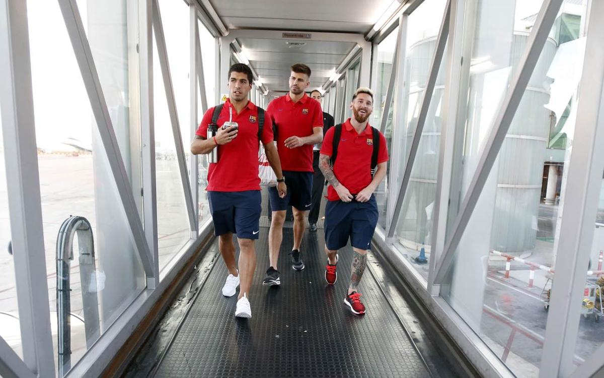 FC Barcelona in Madrid ready for Saturday's game with Leganés