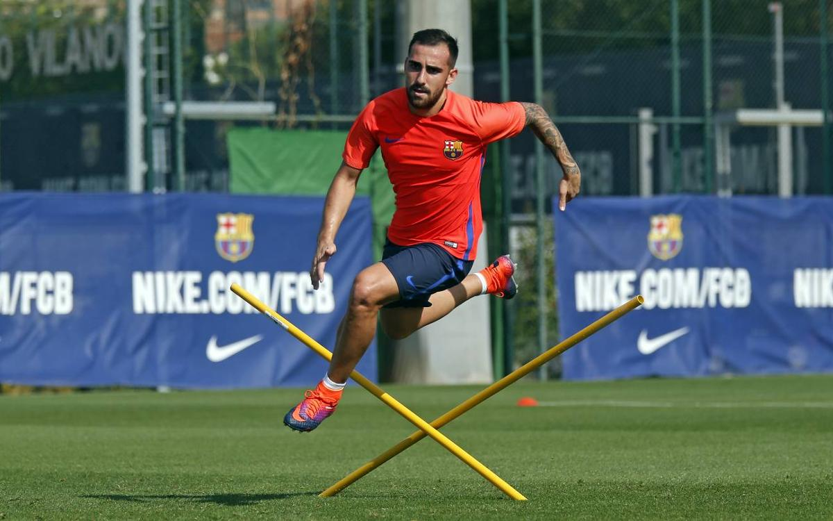 Second session for FC Barcelona squad without international players