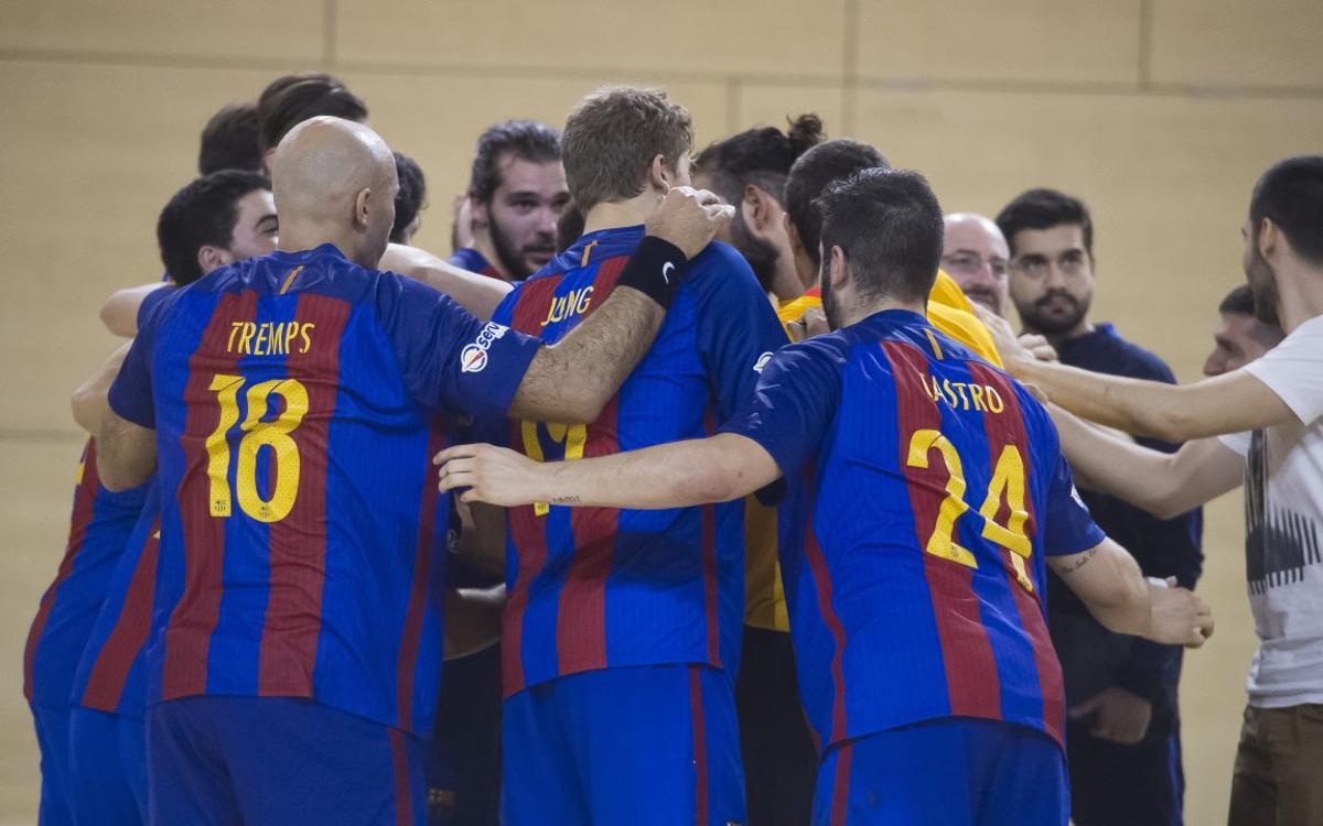 FC Barcelona Lassa B - Fertiberia Puerto Sagunto: El filial comença el somni (34-31)