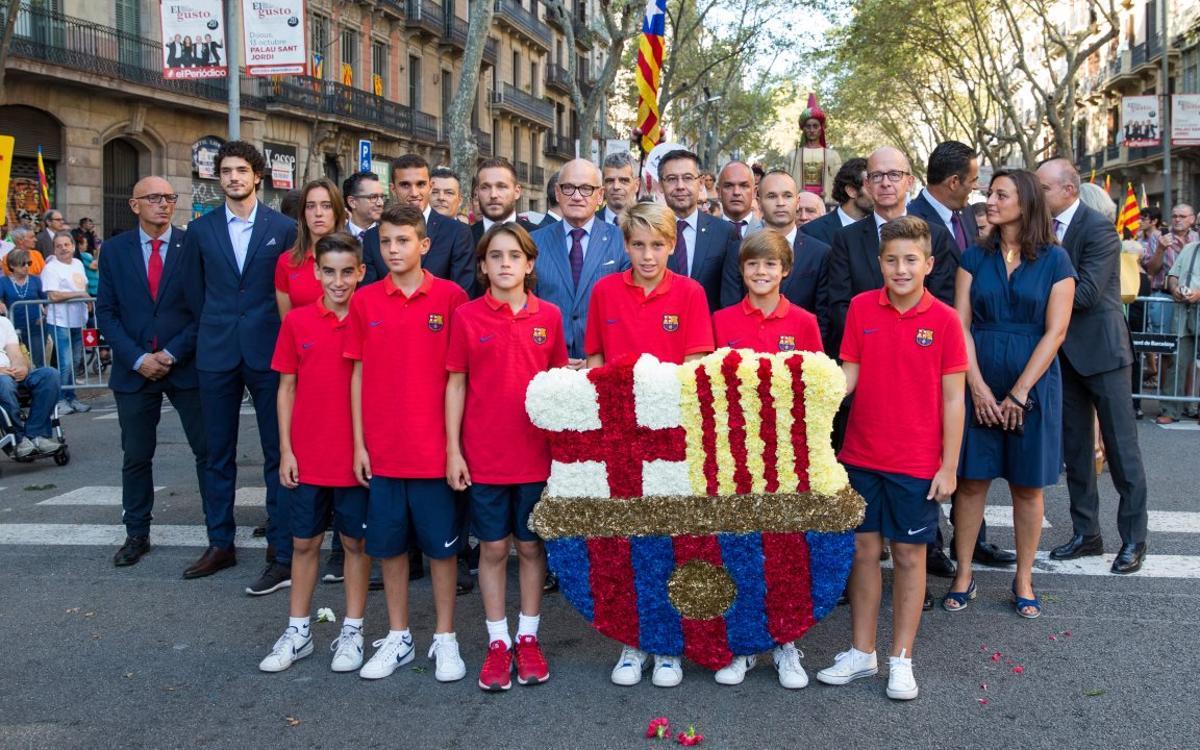 El FC Barcelona celebra la Diada Nacional de Catalunya de 2016