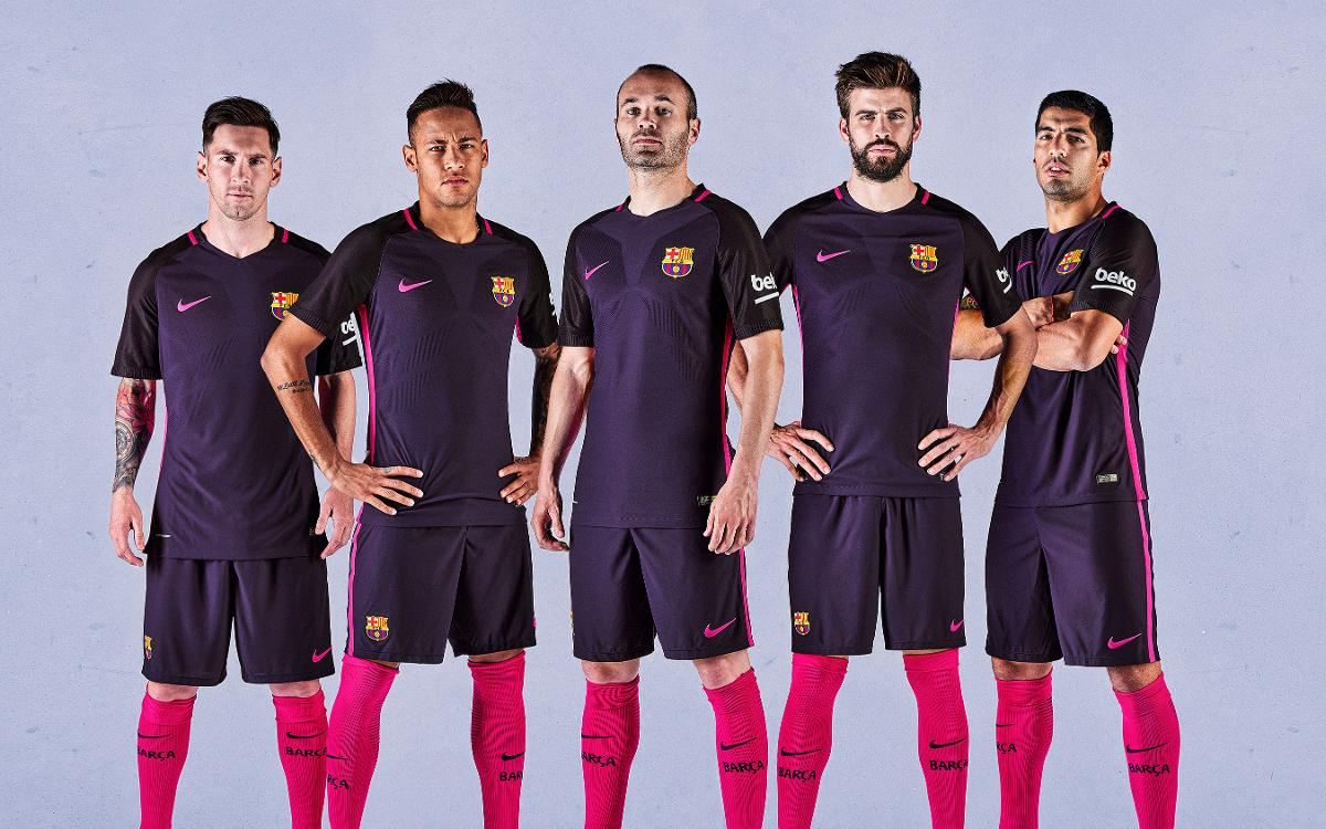 The FC Barcelona away kit for 2016/17 will be purple