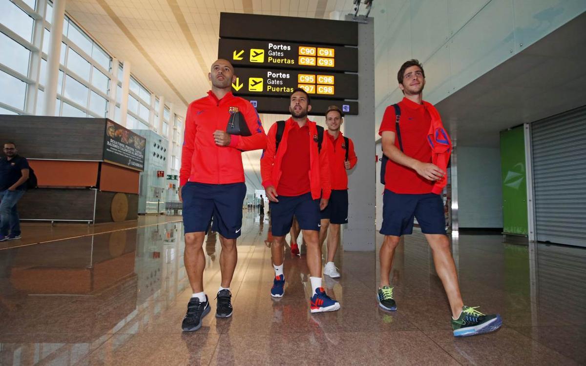Así ha sido el viaje del Barça a Gijón