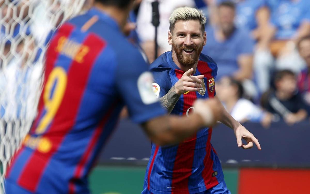 CD レガネス – FC バルセロナ: ブタルケでもトリデンテ(1-5)