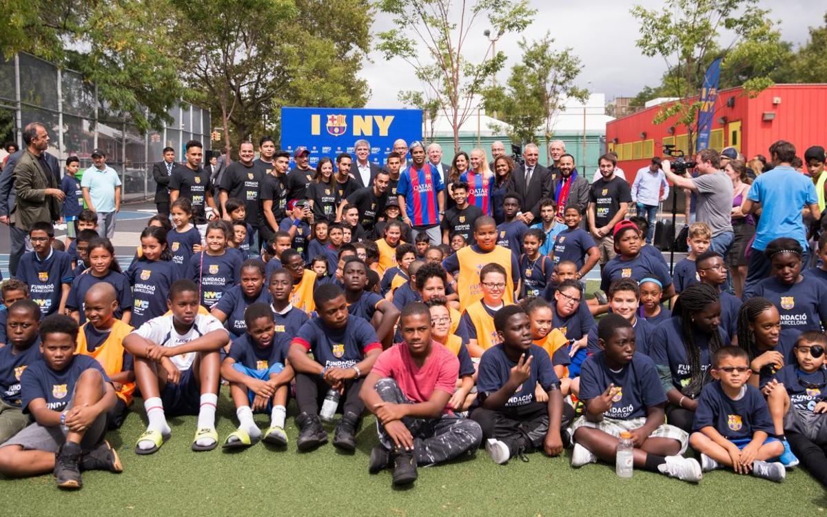 The FCB Foundation and the New York Dept. of Education bring FutbolNet to the city