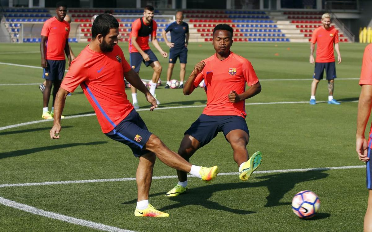 Weekly training plan before the match against Athletic Club