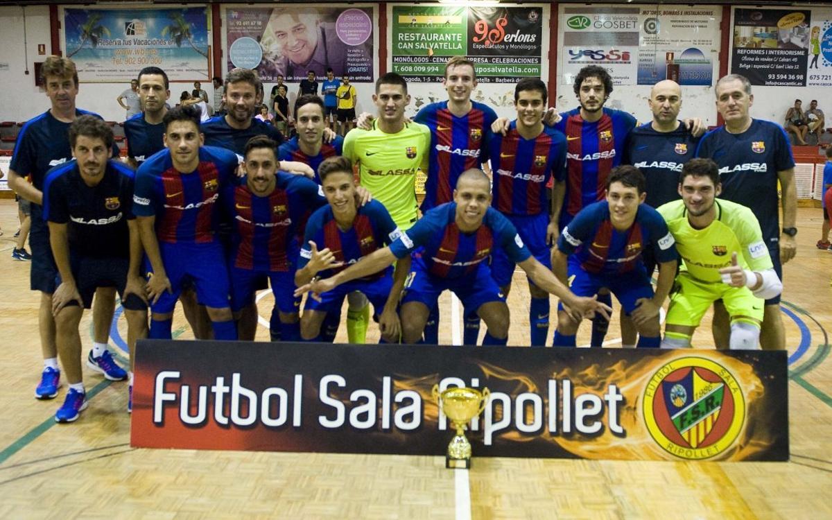 FC Barcelona Lassa - El Pozo Murcia B: Campeones de Ripollet con muchos méritos (2-0)