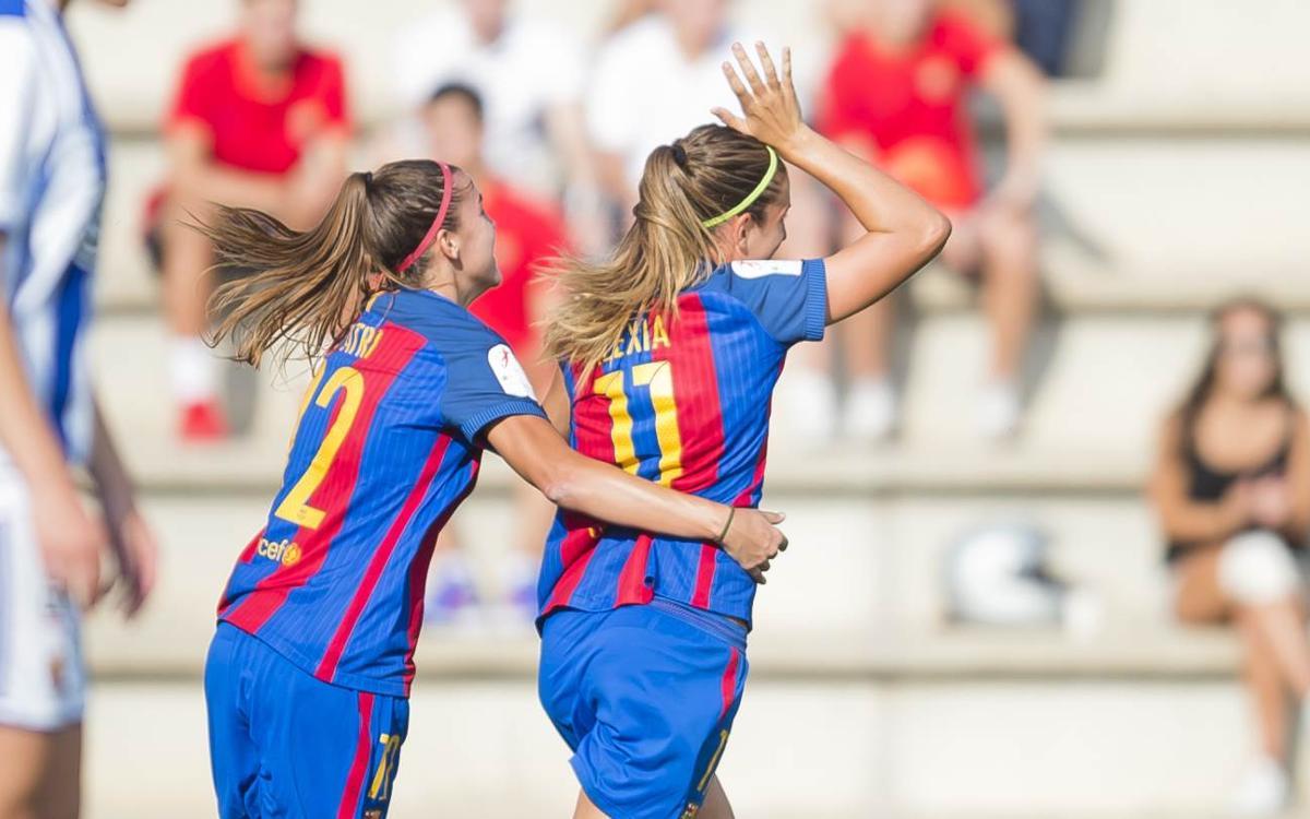 FCB Femenino - Real Sociedad: Tres de tres (2-0)