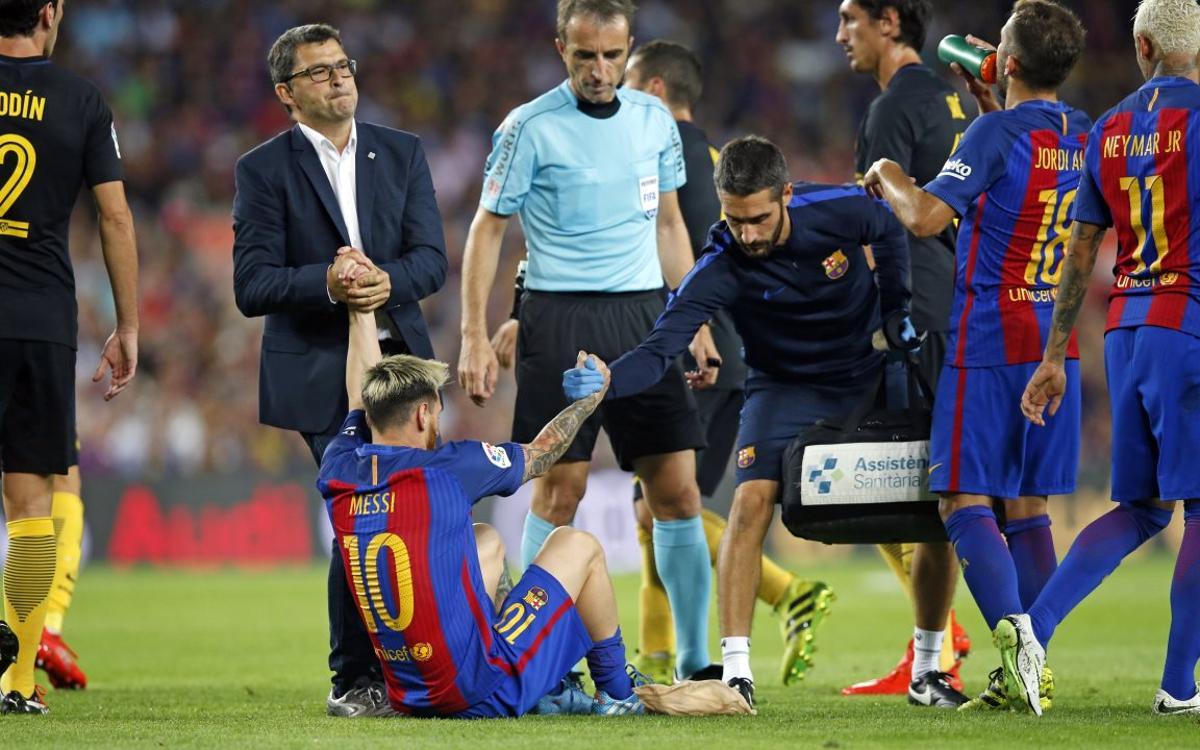 Leo Messi out for three weeks