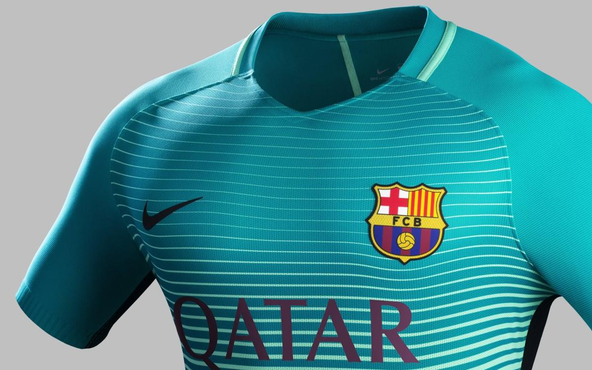 47a92e033 FC Barcelona will wear their third kit for the first time against  Mönchengladbach