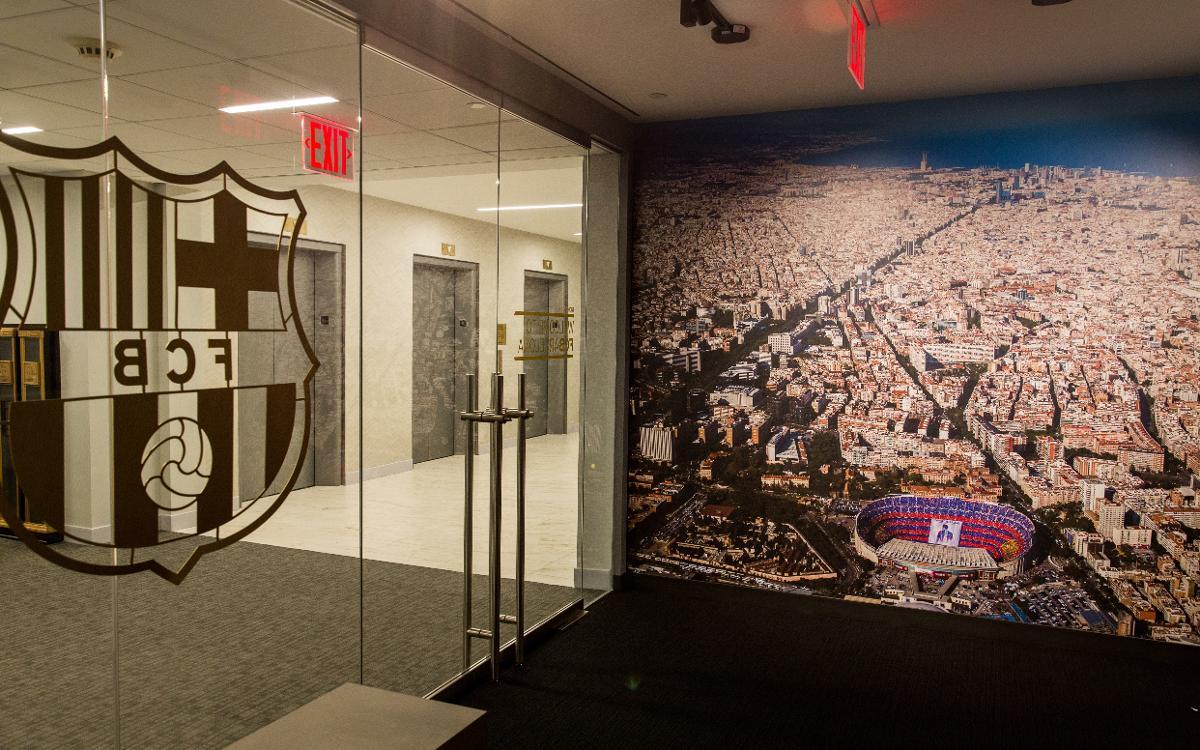 Així és l'oficina del Barça als Estats Units