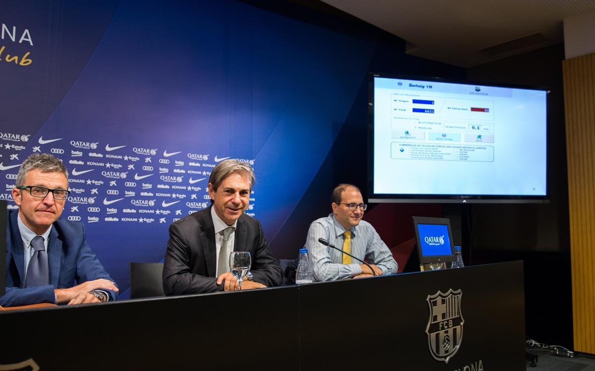Sorteada la Llotja Oberta del Camp Nou y del Palau Blaugrana