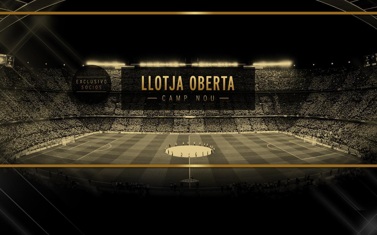Ya está disponible el formulario para optar a la Llotja Oberta del Camp Nou