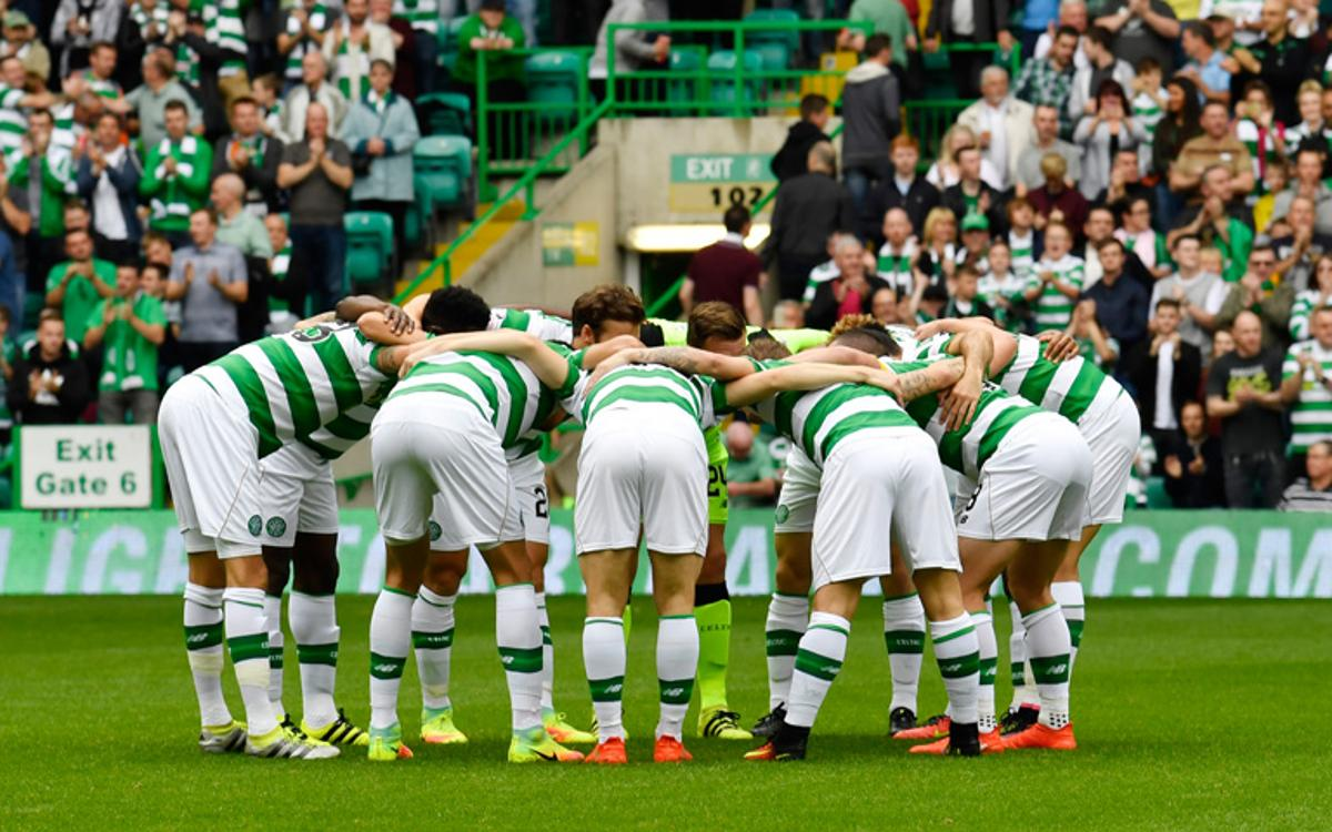 El Celtic golea en el derbi escocés antes de visitar al Barça