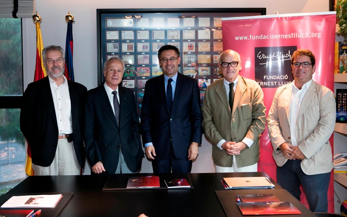 El FC Barcelona i la Fundació Ernest Lluch prorroguen el seu acord de col·laboració