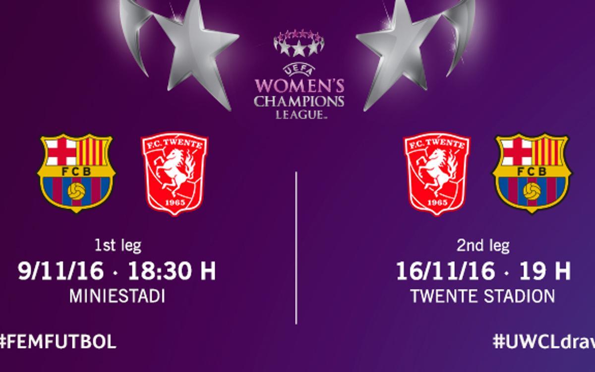 Els horaris amb el Twente de Champions, confirmats