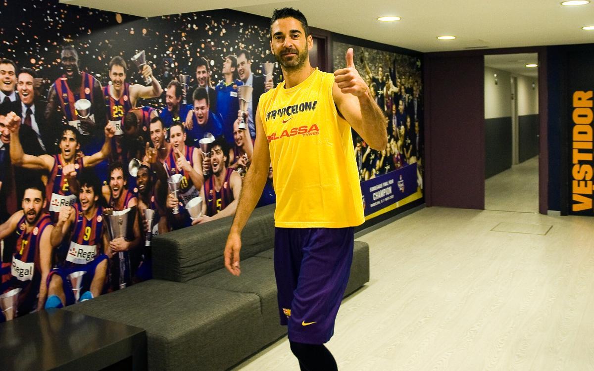 Juan Carlos Navarro vuelve a los entrenamientos del Barça Lassa