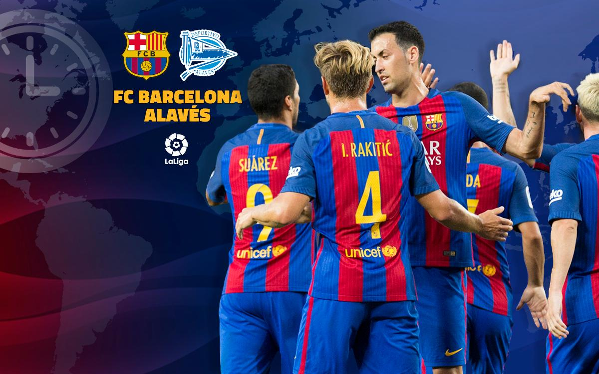 When and where to watch this weekend's La Liga match between FC Barcelona and Alavés