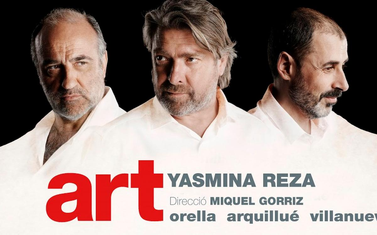 'Art' en el Teatre Goya con descuento para los socios del FCB