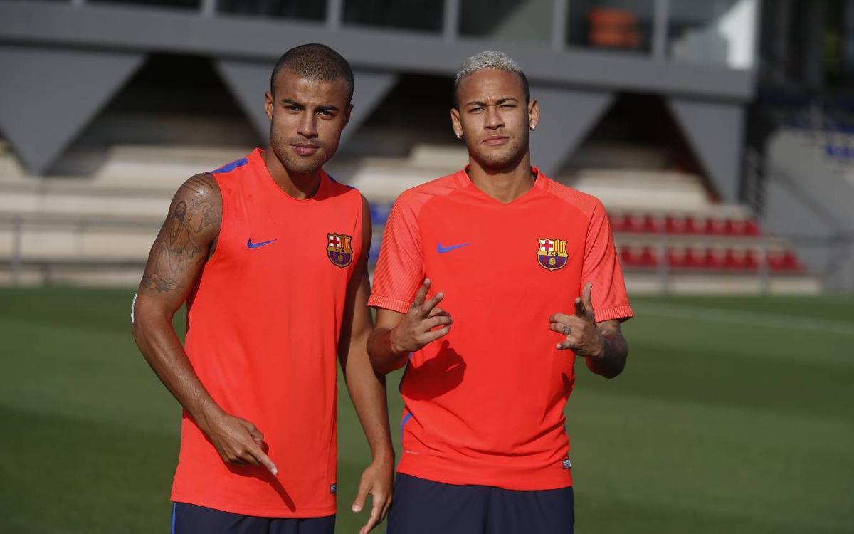 Neymar Jr, la novedad en el entrenamiento