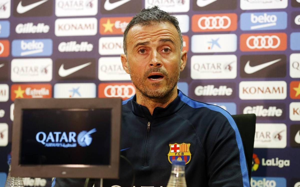Ahead of FC Barcelona v Valencia, Luis Enrique says if Messi is Messi, 'we're good to go'