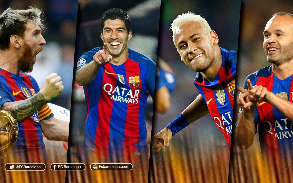 Iniesta, Suárez, Messi and Neymar Jr up for Ballon d'Or award