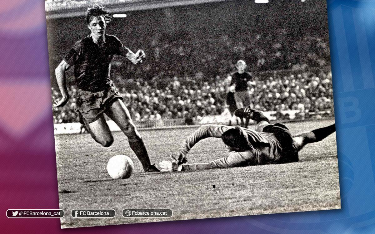 Se cumplen 43 años del debut de Cruyff con el Barça