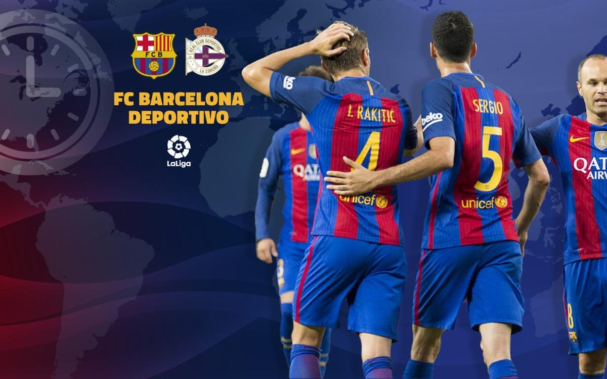 When and where to watch FC Barcelona v Deportivo